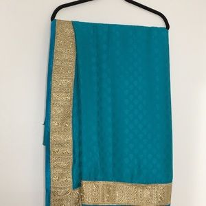 NWOT Light weight saree with stitched blouse